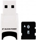 Карта памяти MS Mikro (M2),  2GB Silicon Power + Stylish USB Reader(M2/microSDHC)